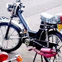 a handmade motorcyle