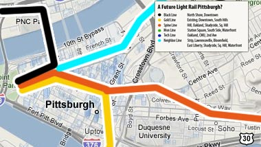 A Possible Future Light Rail System in Pittsburgh